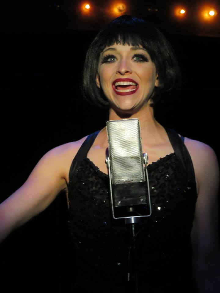 Mallory Newbrough as Sally Bowles. Courtesy The Winnipesaukee Playhouse