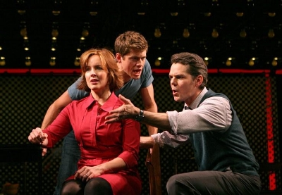 Aaron Tveit, Alice Ripley and J. Robert Spencer in Next to Normal. Photo: Joan Marcus