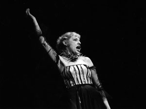 Lotte Lenya in the 1955 New York production