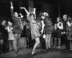 Baayork Lee, Donna McKechnie, and Margo Sappington, doing Turkey Lurkey Time in the original Broadway production of Promises, Promises.