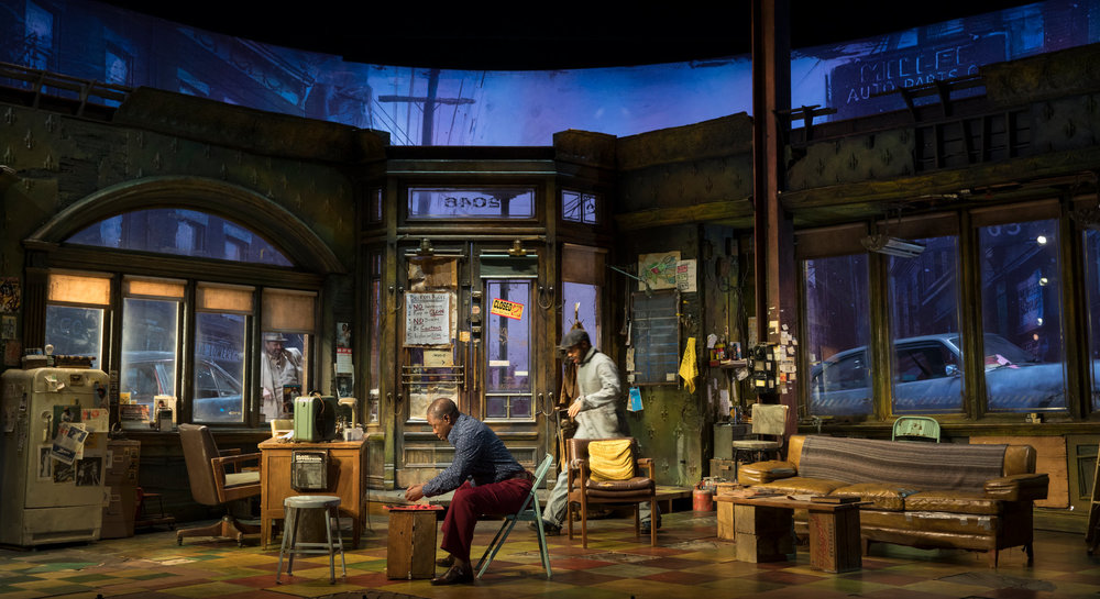 "David Gallo's set for ""Jitney"""