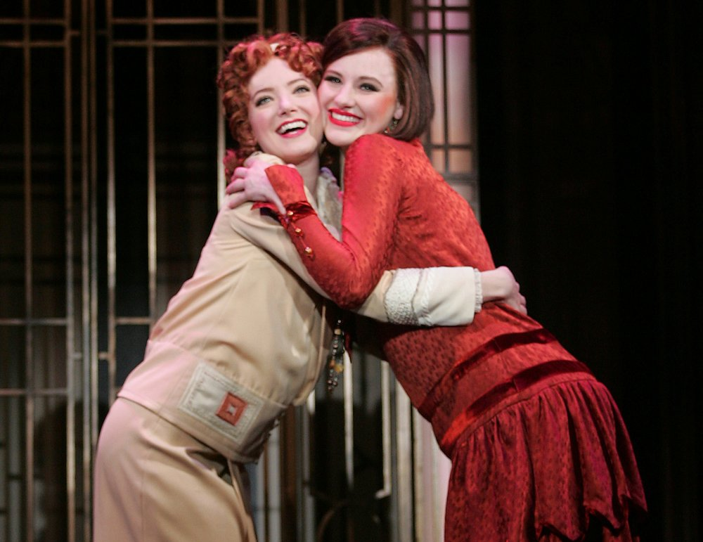 Samantha Sturm  and  Taylor Quick  in Thoroughly Modern Millie (photo by Diane Sobolewski)