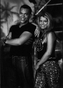 Jason Raize and Jessica Simpson