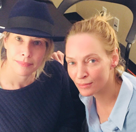 Levine and recent guest Uma Thurman