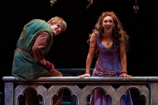 John McGinty and Lesli Margherita in The Hunchback of Notre Dame in CA Photo: Charr Crail