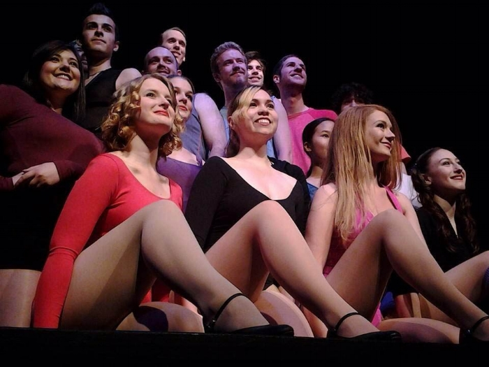"Local actors and actress audition for the Bellingham Theatre Guild's production of ""A Chorus Line."" Photo credit: David Cohn."
