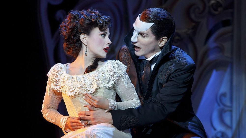 "Meghan Picerno portrays Christine and Gardar Thor Cortes is the Phantom in the national tour of ""Love Never Dies."" (Joan Marcus)"