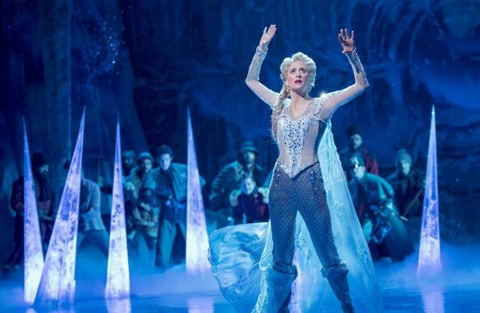 Caissie Levy as Elsa in Frozen on Broadway CREDIT: DEEN VAN MEER