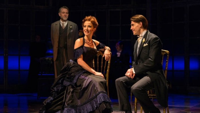 Boyd Gaines, Sierra Boggess, and Andrew Veenstra T. Charles Erickson