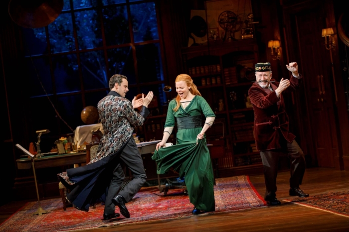 "Photo: Harry Hadden-Paton, Lauren Ambrose, and Allan Corduner in ""My Fair Lady."" Credit: Joan Marcus."