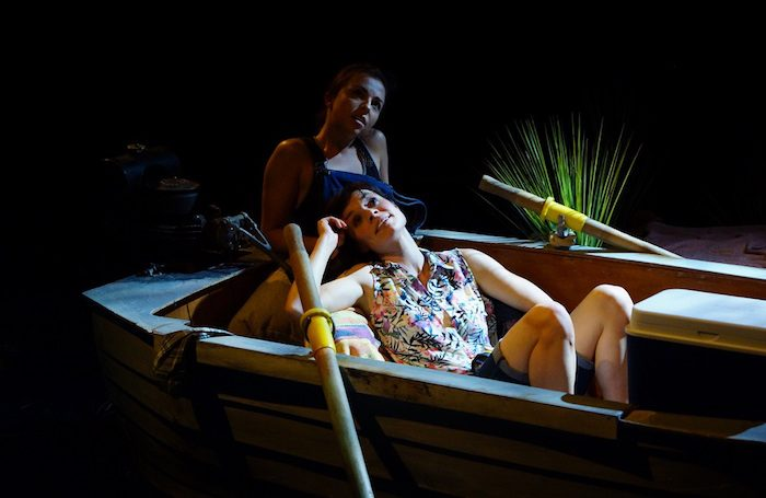 Louisa Lytton and Anna Acton in The Gulf at Tristan Bates Theatre. Photo: Rachael Cummings