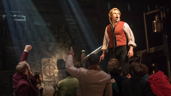 Matt Shingledecker in the National Tour of Les Miserables playing one of the central roles of Enjolras (Photos: Matthew Murphy)