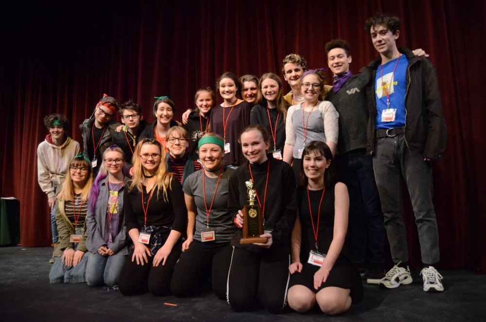 "Ellsworth High School took home first place for its performance of ""The Secret in the Wings"" at the 2018 Maine State Drama Festival's Class B regional competition. Photo: Chris Dougherty"