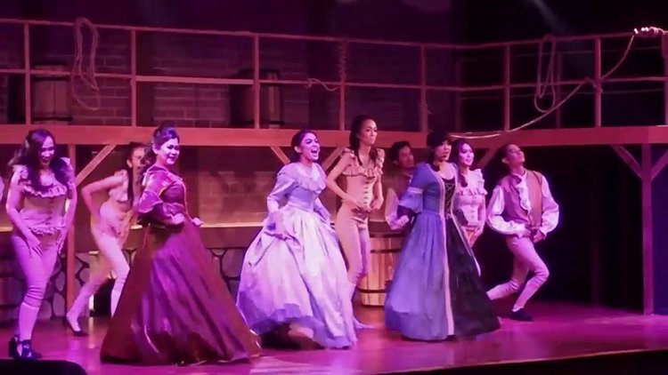 Images from the  unlicensed production of Hamilton in Indonesia  last year