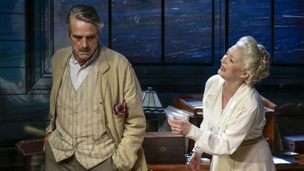 "Jeremy Irons and Lesley Manville in ""Long Day's Journey Into Night"" at the Wallis Annenberg Center for the Performing Arts (Lawrence K. Ho)"