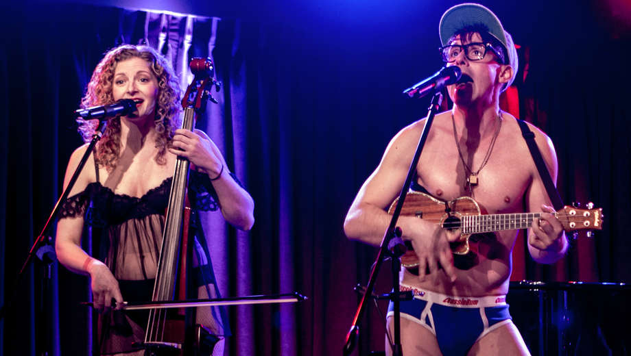 Lauren Molina and Nick Cearley as The Skivvies