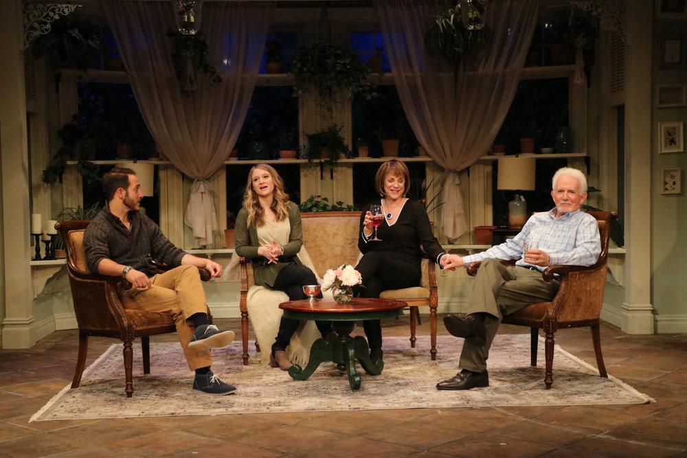 (from left to right): Jordan Sobel (Billy), Bridget Gabbe (Jane), Jana Robbins (Alice), Richard Kline (Bill, Sr.). Credit: Chris Yacopino