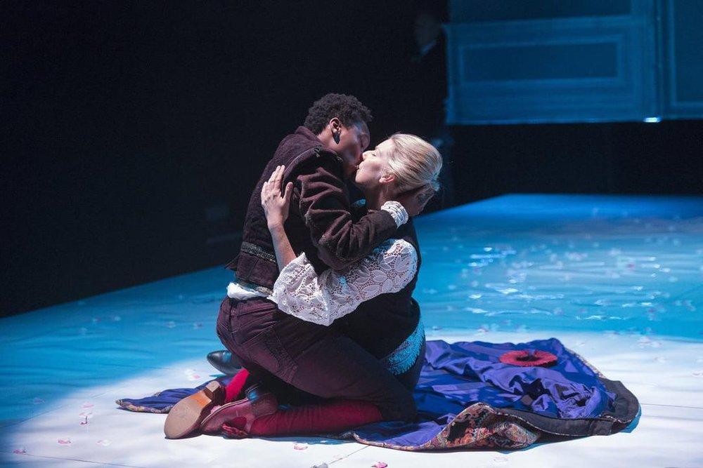 Sarah Afful, left, and Maev Beaty in Soulpepper Theatre's Orlando. (ALEKSANDAR ANTONIJEVIC)