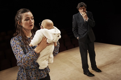"""Photo: Amy Molloy and Stephen Rea in the Abbey Theatre and the Royal Court Theatre's co-production of """"Cyprus Avenue."""" Credit: Ros Kavanagh."""