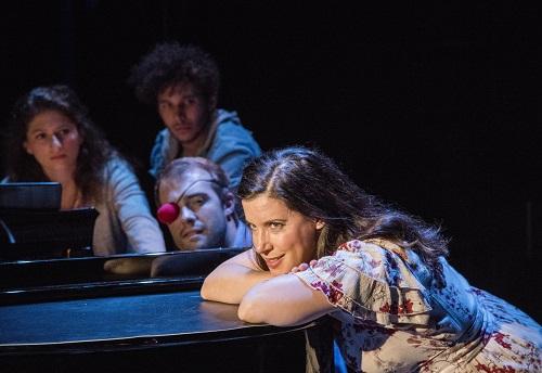 """Photo: Christine Hamel (foreground) in """"Brecht on Brecht."""" Credit: Stan Barouh."""