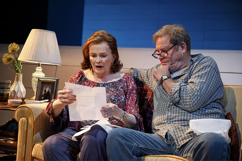 """Photo: Blair Brown and Brian Kerwin in """"Mary Page Marlowe."""" Credit: Joan Marcus."""