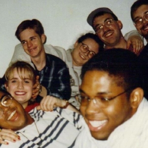 Shannon-Courtney Denihan, Matthew Shepard and friends at Catawba College.