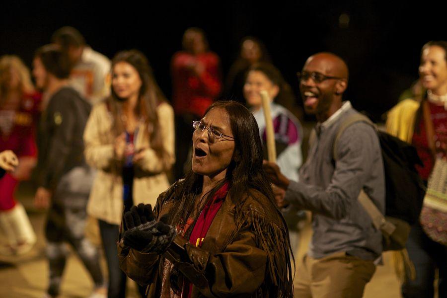 """Larissa FastHorse's """"Urban Rez"""" at Cornerstone Theater Company."""