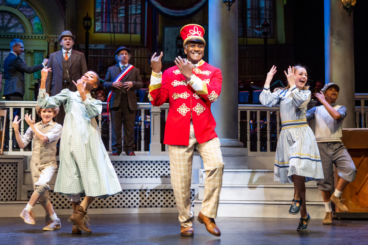 Norm Lewis (center) and the cast of   The Music Man  . Photo: Jeremy Daniel.