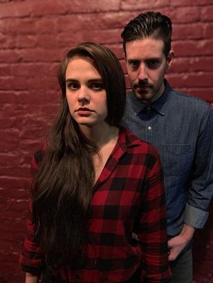 Mackenzie Menter as Miranda, Brendan Cataldo as Calvin. Photo by Random Access Theatre.