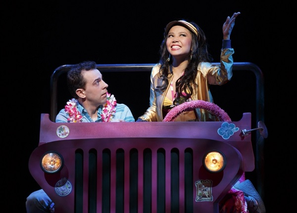 Catherine, with Rob McClure, in  Honeymoon in Vegas  (photo by Joan Marcus)