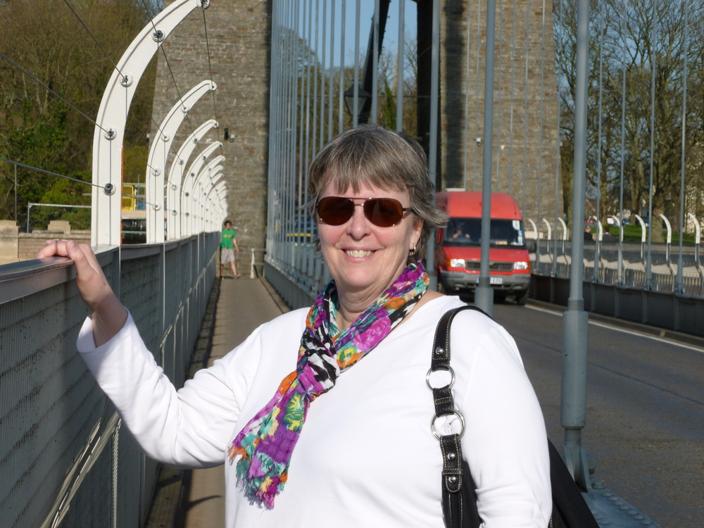 Julie on clifton suspension bridge