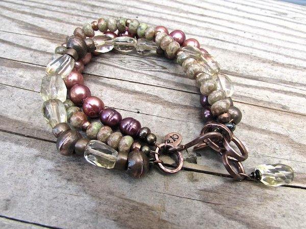 Handmade Boho Bracelet, Handmade Bohemian Jewelry