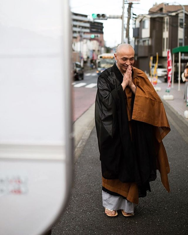 Buddhist Monk street style