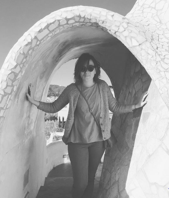 in Barcelona, Spain at Gaudi's Casa Mila, 2016