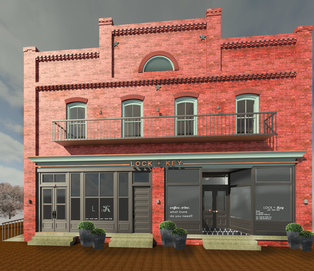 112 W. Lewis - proposed facade