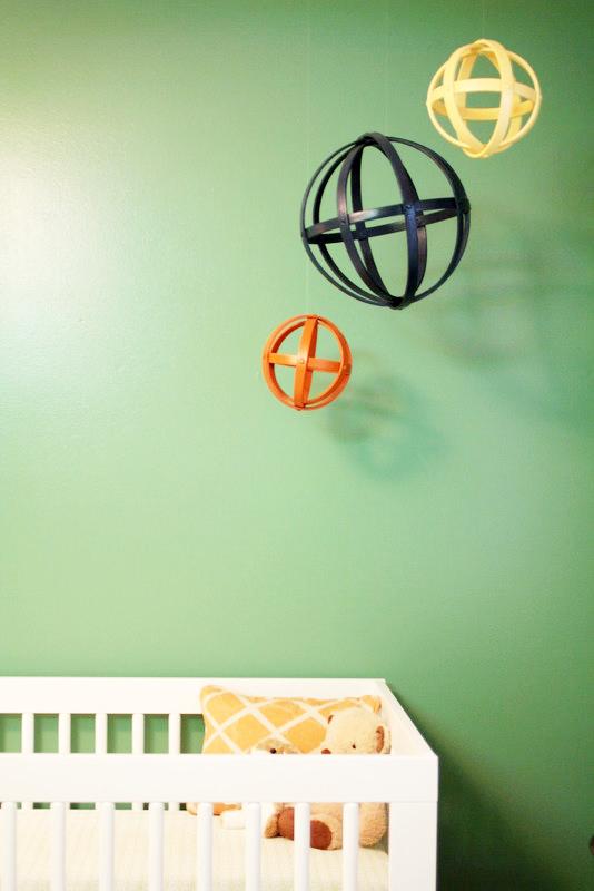 Jacksonville, FL Nursery - crib + art inspired mobile