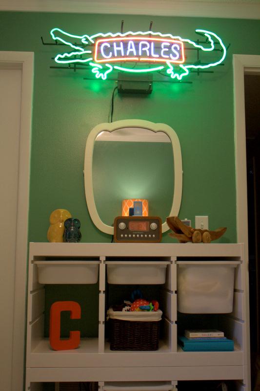 Jacksonville, FL Nursery - organization station with custom light