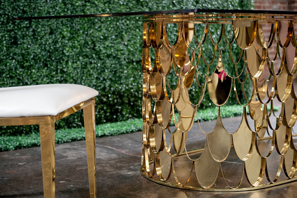Gold Cartier Estate Table Base