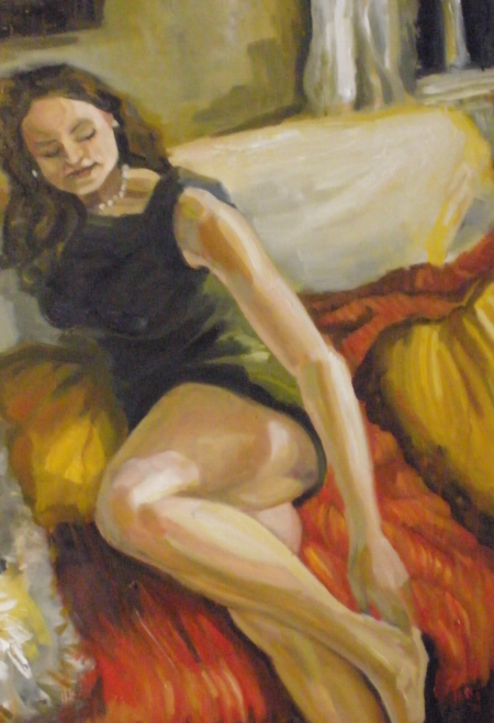 Oil on Canvas |  Jessi Reel  | Red Couch