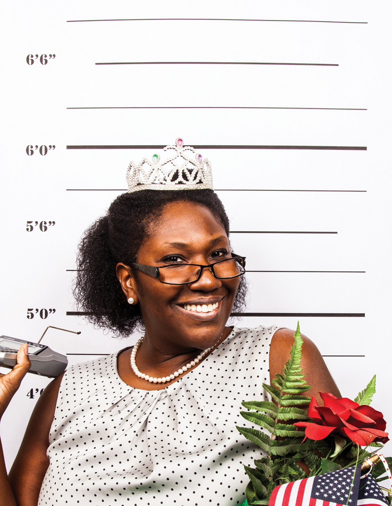 """Leah Walker """"It couldn't have been me! I was busy winning the MAAP. You know, the Miss Accounting America Pageant! Don't you see my tiara???"""""""