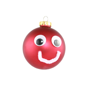 Melinda Lehman   Long ago my ornaments got lost Too many moves and they got tossed So I made this guy With googly eyes When I was totally sauced