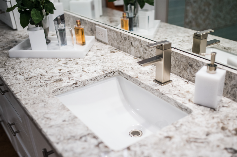 Granite Shot B above. Nice composition here, better view of the sink. But it's subtle, no popping color.