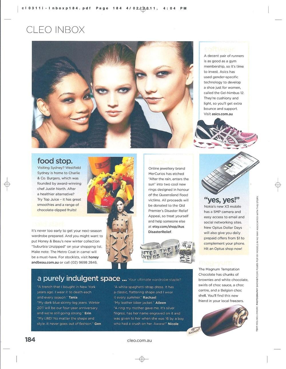 CLEO Magazine, March 2011