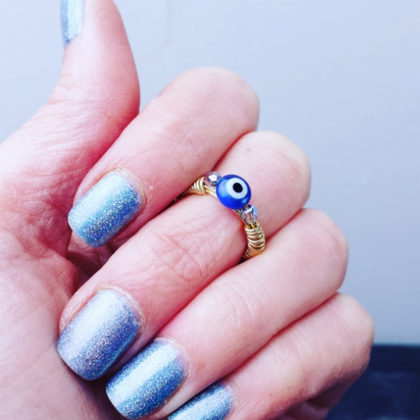 Evil Eye Midi Ring (coming soon) -- Join our Newsletter below to be the first to know when they arrive.