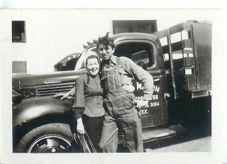 Mary & Otto - Tyler, TX (R.H. Martin and Sons truck in the background)