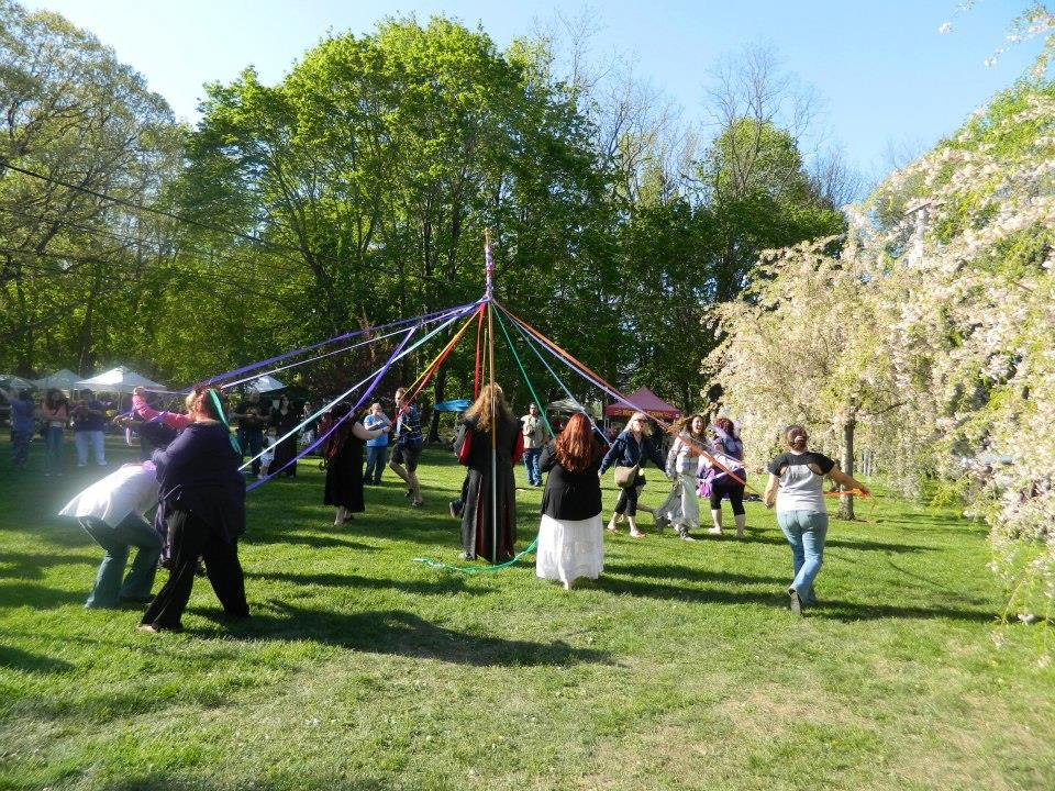 Maypole Dance (image source: Long Island Beltane Facebook page)