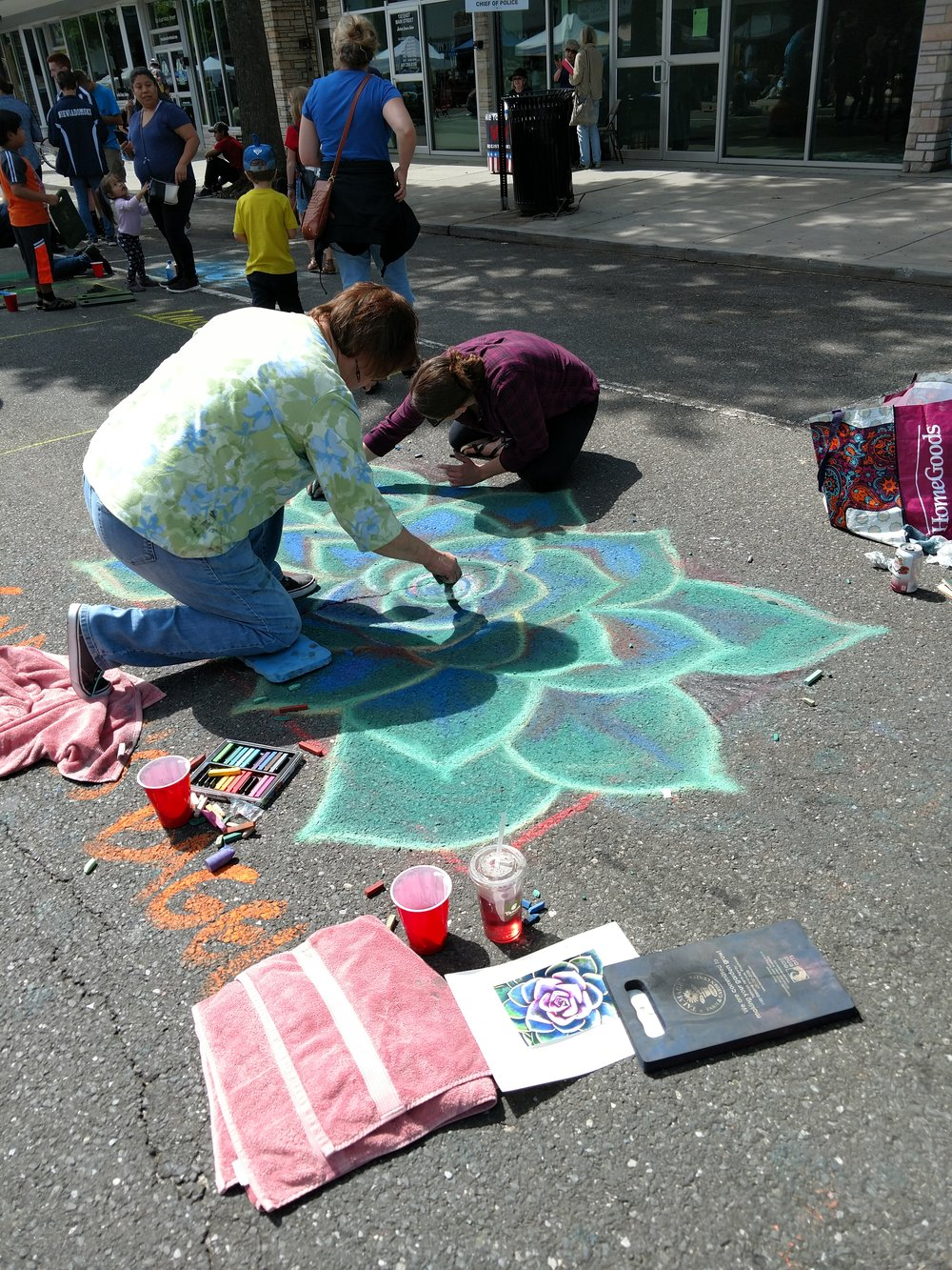 Lotus Flower Chalk Art
