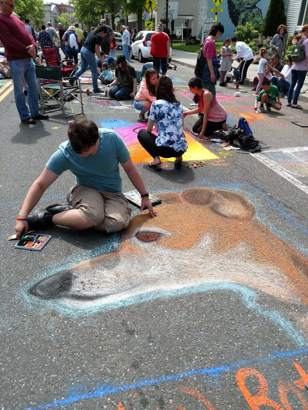 Dog Chalk Art