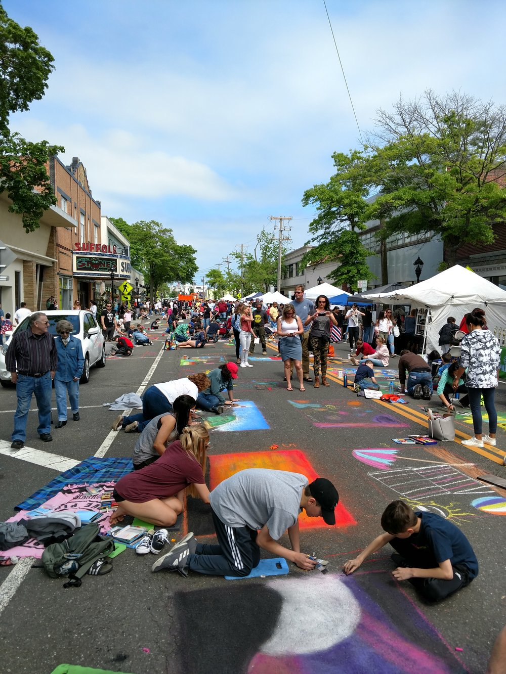 Riverhead Community Mosaic Street Painting Festival
