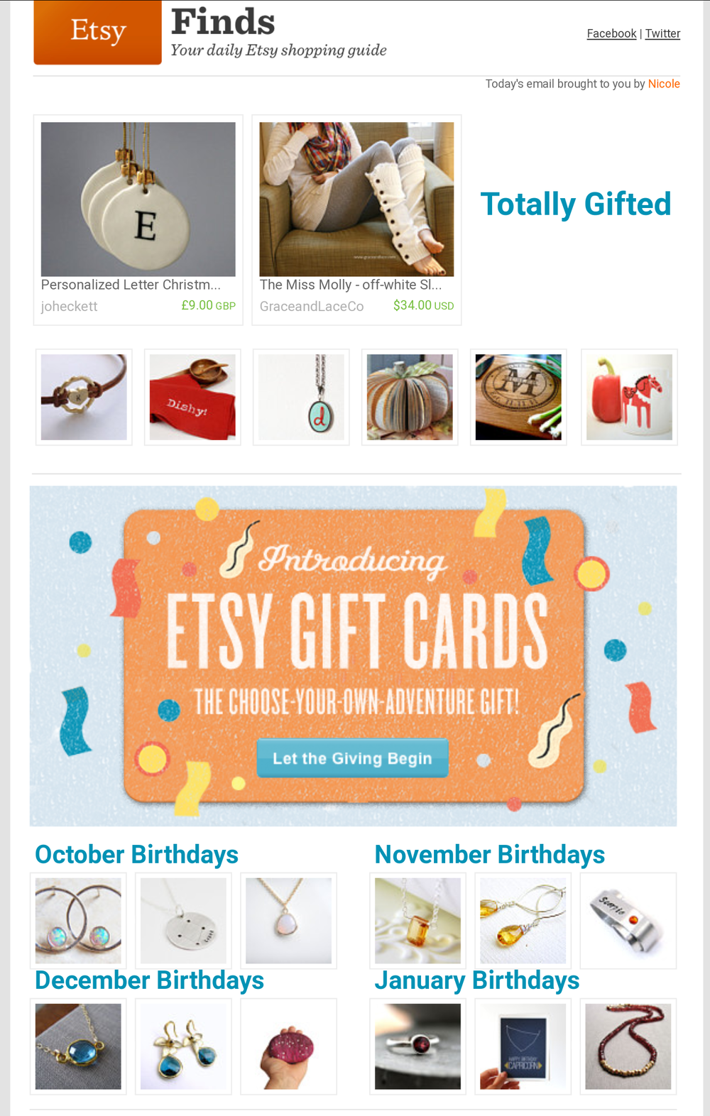 Etsy Finds - Totally Gifted // October 2012